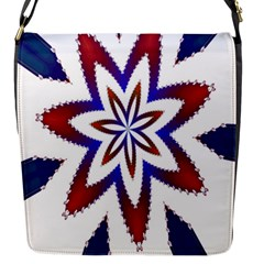 Fractal Flower Flap Messenger Bag (s)
