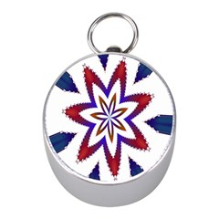 Fractal Flower Mini Silver Compasses