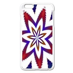 Fractal Flower Apple Iphone 6 Plus/6s Plus Enamel White Case