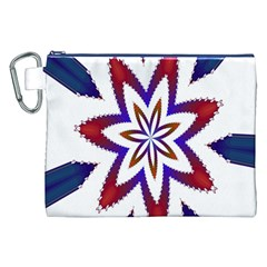 Fractal Flower Canvas Cosmetic Bag (XXL)