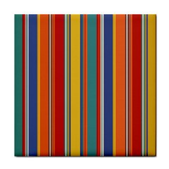 Stripes Background Colorful Tile Coasters