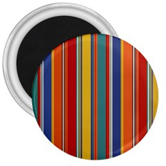 Stripes Background Colorful 3  Magnets