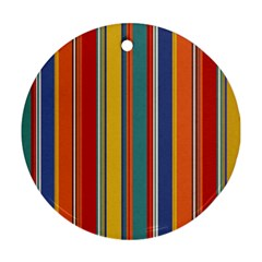Stripes Background Colorful Ornament (Round)