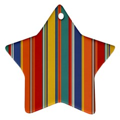 Stripes Background Colorful Ornament (Star)
