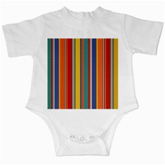 Stripes Background Colorful Infant Creepers