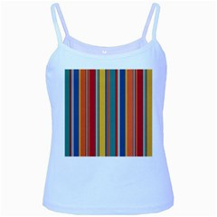 Stripes Background Colorful Baby Blue Spaghetti Tank