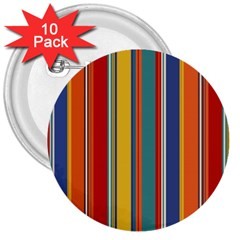 Stripes Background Colorful 3  Buttons (10 Pack)