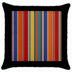 Stripes Background Colorful Throw Pillow Case (black)