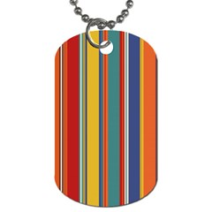 Stripes Background Colorful Dog Tag (two Sides)