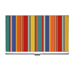 Stripes Background Colorful Business Card Holders