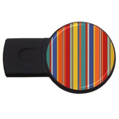 Stripes Background Colorful Usb Flash Drive Round (2 Gb)
