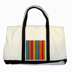 Stripes Background Colorful Two Tone Tote Bag