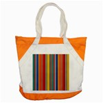 Stripes Background Colorful Accent Tote Bag Front