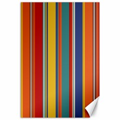 Stripes Background Colorful Canvas 12  X 18