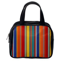 Stripes Background Colorful Classic Handbags (one Side)