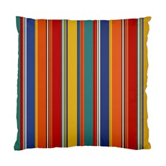 Stripes Background Colorful Standard Cushion Case (Two Sides)