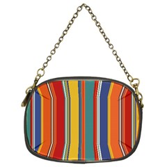 Stripes Background Colorful Chain Purses (Two Sides)