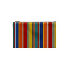 Stripes Background Colorful Cosmetic Bag (Small)
