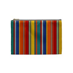 Stripes Background Colorful Cosmetic Bag (medium)