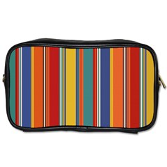 Stripes Background Colorful Toiletries Bags 2 Side
