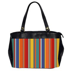Stripes Background Colorful Office Handbags (2 Sides)