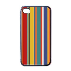Stripes Background Colorful Apple iPhone 4 Case (Black)