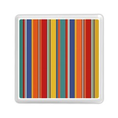 Stripes Background Colorful Memory Card Reader (square)