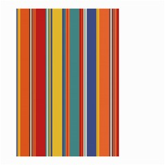 Stripes Background Colorful Small Garden Flag (Two Sides)