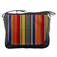 Stripes Background Colorful Messenger Bags