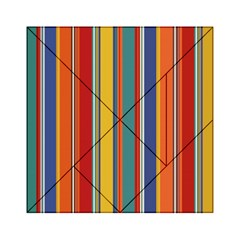 Stripes Background Colorful Acrylic Tangram Puzzle (6  x 6 )