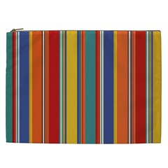 Stripes Background Colorful Cosmetic Bag (XXL)