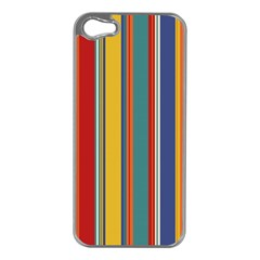 Stripes Background Colorful Apple iPhone 5 Case (Silver)