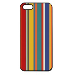Stripes Background Colorful Apple iPhone 5 Seamless Case (Black)