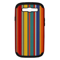 Stripes Background Colorful Samsung Galaxy S III Hardshell Case (PC+Silicone)
