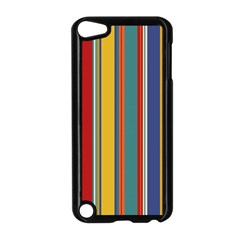 Stripes Background Colorful Apple iPod Touch 5 Case (Black)
