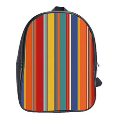 Stripes Background Colorful School Bags (XL)