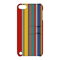 Stripes Background Colorful Apple iPod Touch 5 Hardshell Case with Stand