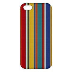 Stripes Background Colorful Apple iPhone 5 Premium Hardshell Case