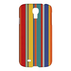 Stripes Background Colorful Samsung Galaxy S4 I9500/I9505 Hardshell Case