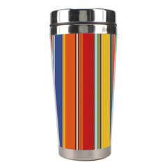Stripes Background Colorful Stainless Steel Travel Tumblers