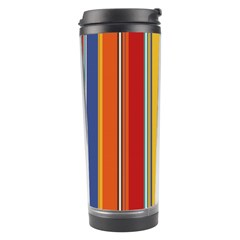 Stripes Background Colorful Travel Tumbler