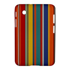 Stripes Background Colorful Samsung Galaxy Tab 2 (7 ) P3100 Hardshell Case