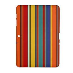 Stripes Background Colorful Samsung Galaxy Tab 2 (10.1 ) P5100 Hardshell Case