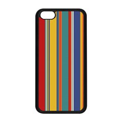 Stripes Background Colorful Apple iPhone 5C Seamless Case (Black)