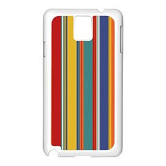 Stripes Background Colorful Samsung Galaxy Note 3 N9005 Case (White)