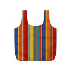 Stripes Background Colorful Full Print Recycle Bags (S)
