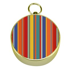 Stripes Background Colorful Gold Compasses