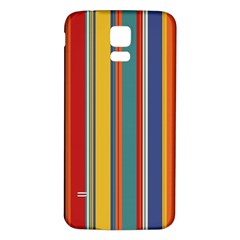Stripes Background Colorful Samsung Galaxy S5 Back Case (White)