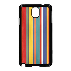 Stripes Background Colorful Samsung Galaxy Note 3 Neo Hardshell Case (Black)