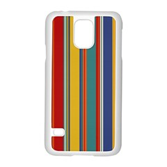 Stripes Background Colorful Samsung Galaxy S5 Case (white)